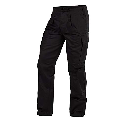 FLECKTEX Original Moleskin Bundeswehrhose Feldhose für Männer | 100% Baumwolle | Outdoor Kampfhose & Survival Hose | Tactical Hose & Security Hose (17, Schwarz)