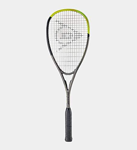 Dunlop Sports Blackstorm Graphite 5.0 - Raqueta de Squash, Gris/Negro/Amarillo