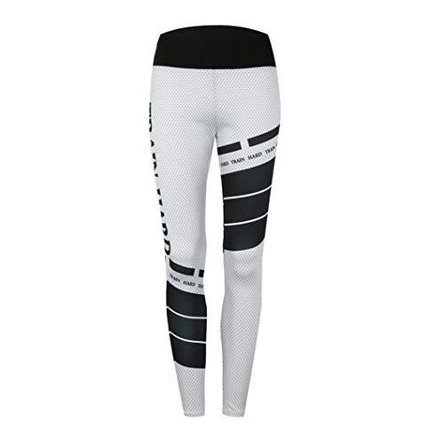 MORCHAN Femmes Sport Gym Yoga entraînement Taille Moyenne Pantalons de Course Fitness Leggings élastiques Jeans Combinaisons Pantalons Courts Collants Knickerbockers(S,Blanc)