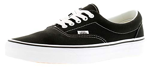 Vans Unisex-Erwachsene Era Classic Canvas Sneakers, Schwarz (Black BLK), 42 EU