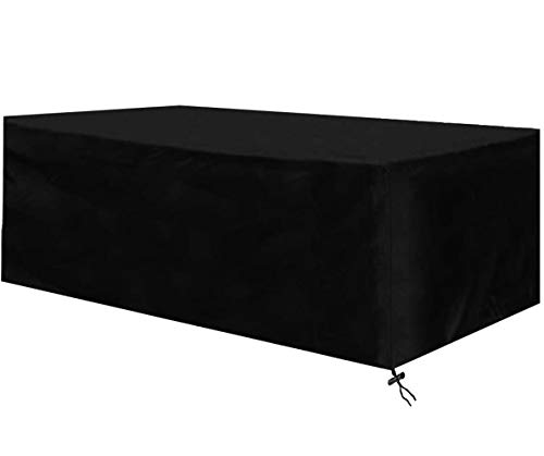 Gartenmöbel Abdeckung, Abdeckplane für Gartenmöbel Wasserdicht Winterfest, Alle Größen Atmungsaktiv Oxford Schutzhülle Gartenmöbel Rechteckig UV-Outdoor Furniture Cover