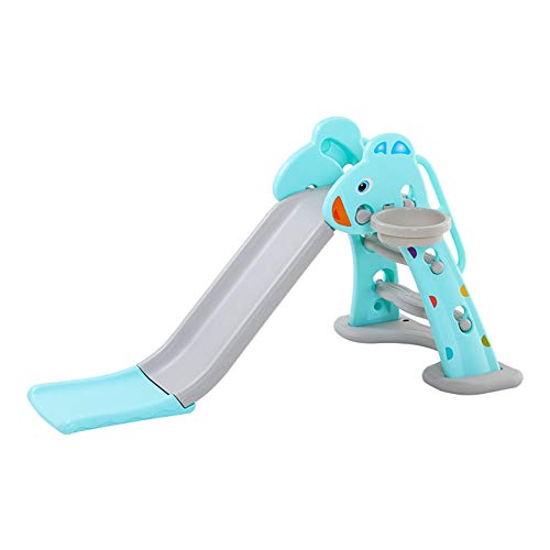 TobogáN Parque para Infantil NiñOs Recto Diapositiva Interior Y Aire Libre Juguetes JardíN Slide Apto para 2-7 AñOs Azul