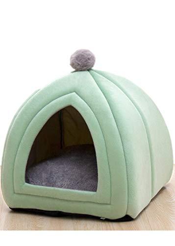 LYH Weiches Faltbare, rutschfeste Unterseite, Abnehmbar Und Waschbar, Im Winter Warm, Halb-eingezäunt, Haustier-Bett (33x33x36 cm,Green)