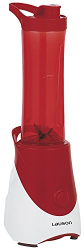 Lauson Batidora Portátil de Vaso extraíble, Mini Mixer para Smoothies, Licuadora de 600ml, 300W, Color Rojo