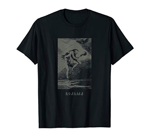 Occult Rußland Hexe Baba Jaga - Slavic Horror Goth T-Shirt