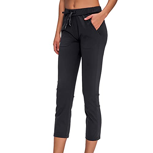 Pantalones deportivos para mujer con bolsillos Pantalones con cintura elstica con cintura elstica Pantalones deportivos para correr con cordones suaves y mantecosos Pantalones de saln cnicos