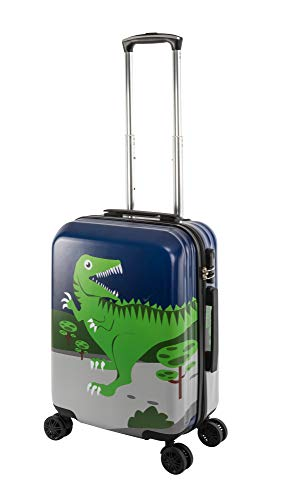 Travelhouse Happy Childreen Kinder Koffer Green Dino ABS Hartschale Reisegepäck Reisetrolley Trolley Kinderkoffer Kindertrolley 41L