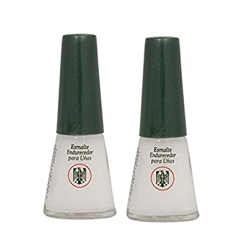 QUIMICA ALEMANA Nail Hardener  protective barrier prevents chipping peeling and splitting  - Size 0.47 Fl.oz  Pack of 2