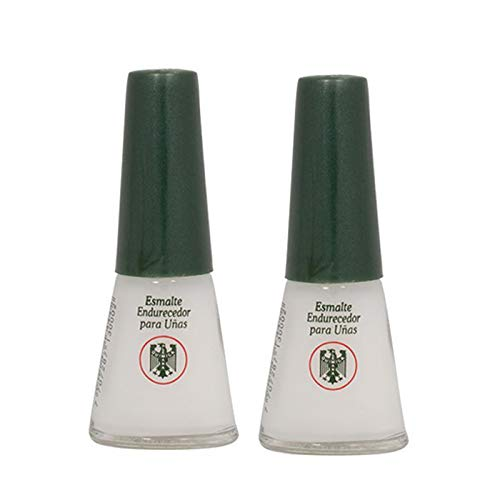 QUIMICA ALEMANA Nail Hardener (protective barrier prevents chipping, peeling and splitting) - Size 0.47 Fl.oz (Pack of 2)
