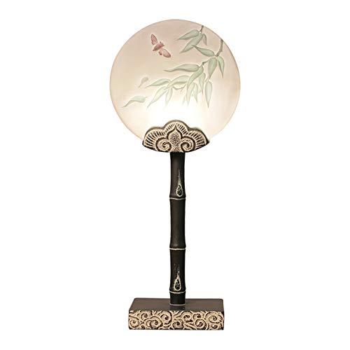 Lámpara de Mesa Tabla antigua de la lámpara de resina Modelo de talla china tradicional hecha a mano de noche contador de la lámpara for el dormitorio de la sala de la familia Lámpara de Cabecera