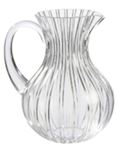 Kennedy Home Clear Large Lucite Pitcher   74 Oz - 2.4 Quart (Full Capacity Jug)   Great Carafe for Water, Juice, Ice Tea, Lemonade, Sangria & Milk   BPA Free,