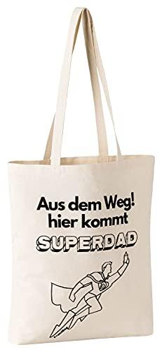 FremiBag Super Dad Tasche   Geschenk zur Geburt   Tasche als Geschenk für Papa, Vater oder Opa zum Geburtstag   Geschenk für Weihnachten   Vatertagsgeschenk   EIN lustiger Hit