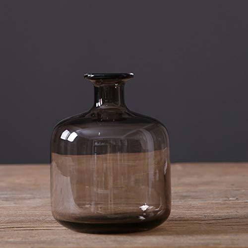 Onbekend, moderne, minimalistische bruine glazen bloem, glazen vaas, creatieve persoonlijkheid woonkamer, eettafel, insert, vaas glas