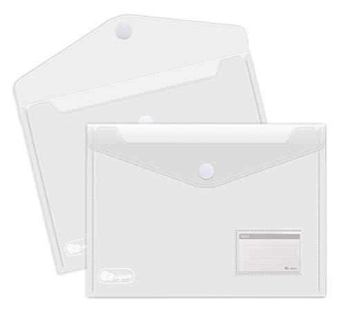 25 x KlettVerschluss Dokumententasche A4 - Dokumentenmappe Brieftaschen zum Dokumenten Abheften mit Brief-Taschen und 30 Stück Gifted Visitenkarte