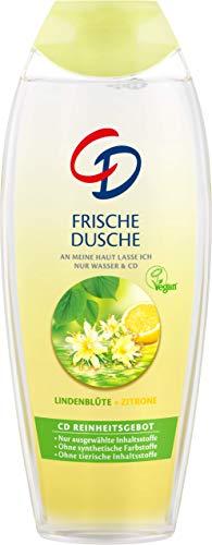 CD Frische Dusche 'Lindenblüte & Zitrone', 6 x 250 ml, Duschgel für empfindliche Haut, citrusfrisches Duscherlebnis, pH-hautneutral, vegane Körperpflege