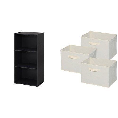 アイリスオーヤマ カラーボックス 3段 幅41×奥行29×高さ87.1cm ホワイト ECX-3