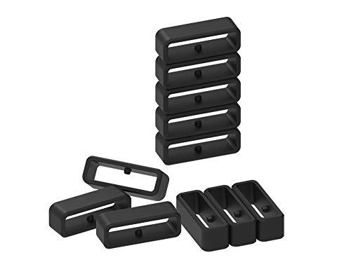 Chofit Bracelet en Silicone Noir pour Montres Compatible avec Garmin sélectionnées, for Forerunner 735xt