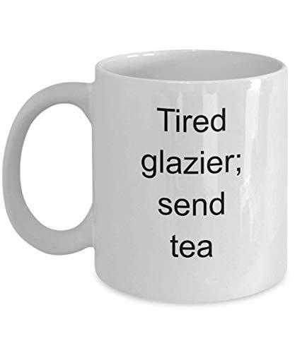 Taza de vidriero Novedad divertida Taza de café Idea de regalo Trabajador de vidrio Master Cutter Vidrieros cansados Enviar té