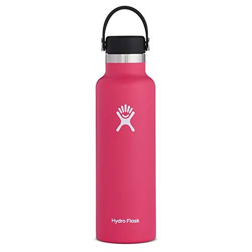 Hydro Flask Standard Mouth Botella de Agua Isotérmica, 18/8 Stainless Steel, Rosa (Watermelon), 621ml (21oz)