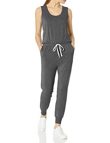 Amazon Essentials Studio Terry Fleece Jumpsuit Jumpsuits-Apparel, Antracite Grigio, US (EU XS-S)