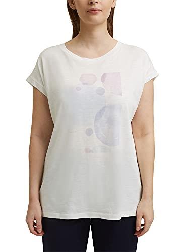 Esprit 021EE1K370 Camiseta, 110/Off White, 46 para Mujer