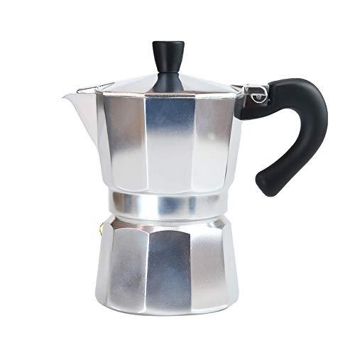 Espressokocher für 6 Tassen, klassischer italienischer Stil, für leckeren Kaffee, müheloszu bedienen & schnell zu reinigen