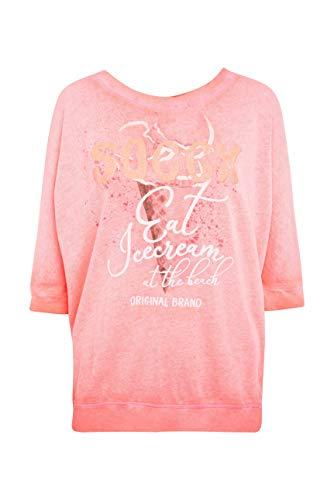 SOCCX Damen Sweatshirt mit kurzen Ärmeln und Artwork