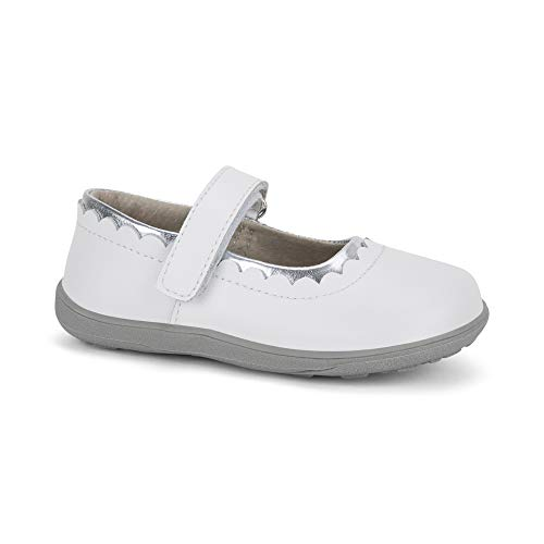 See Kai Run, Jane II Mary Jane Shoes for Kids, White, 2Y