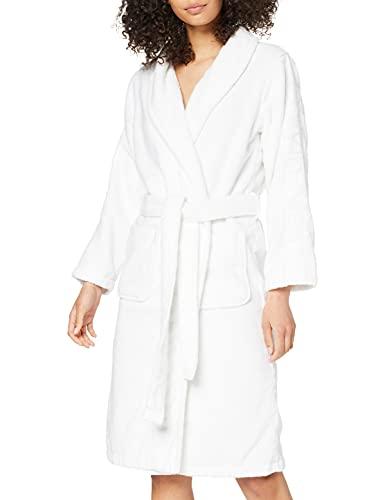 Calvin Klein Damen ROBE Bademantel, Weiß (White 100), 36 (Herstellergröße: XS-S)
