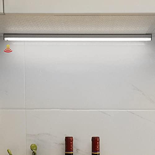Lámpara de noche LED Interruptor de sensor de barrido manual Atenuación Carga USB Luces debajo del gabinete Sala de estar Dormitorio Armario Cocina Iluminación-White_Light_20_CM
