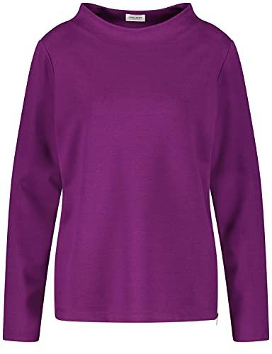 Gerry Weber Damen Sweatshirt mit Lift Up Kragen leger Beere 40