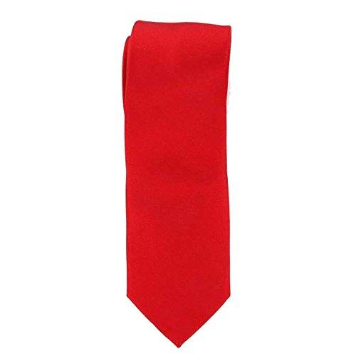 Cotton Park - Cravate 100% rouge vermillon - Homme