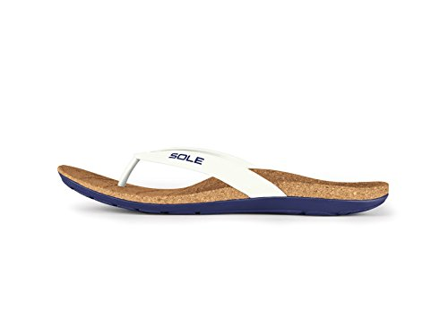Sole Beach Flips - Mens Arch Support Sandal Crest - 11