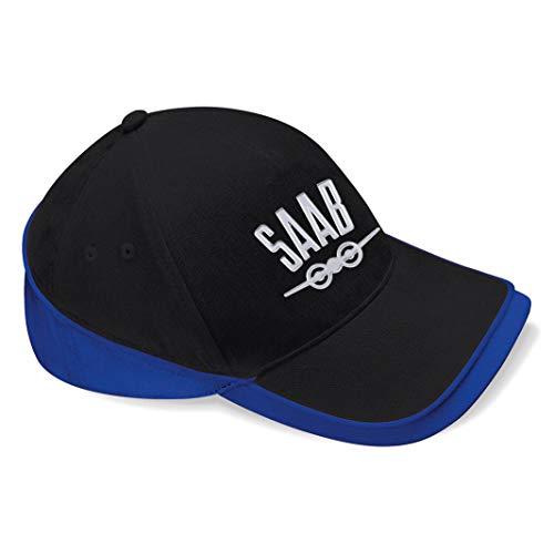 mmshop18 Saab Car Auto Fun Baseball Cap Mütze -c141 (sw-blau)