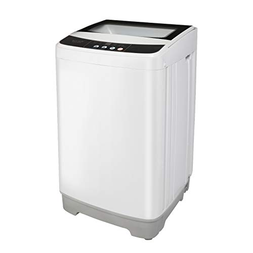 ROVSUN Full-Automatic Washing Machine, Compact 13lbs Portable Washer w/ 10 Programs 8 Water Levels, Perfect for Apartments, RVs and Dorm