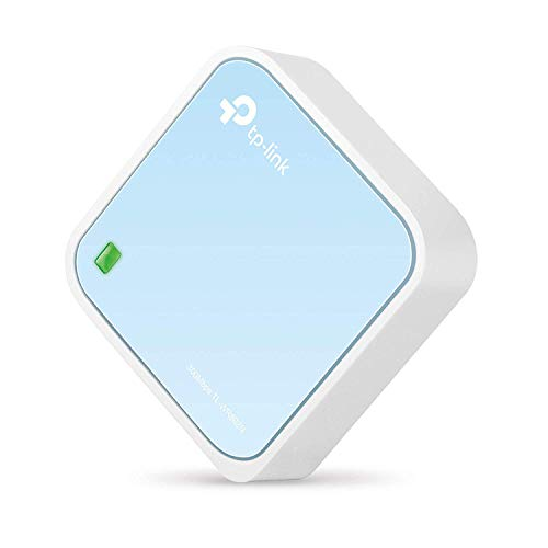 TP-Link TL-WR802N N300 WLAN Nano Router (Tragbar, Accesspoint, TV Adapter, Repeater, Router, Client, 300 Mbit/s (2,4GHz), Media, FTP Server), blau/ weiß
