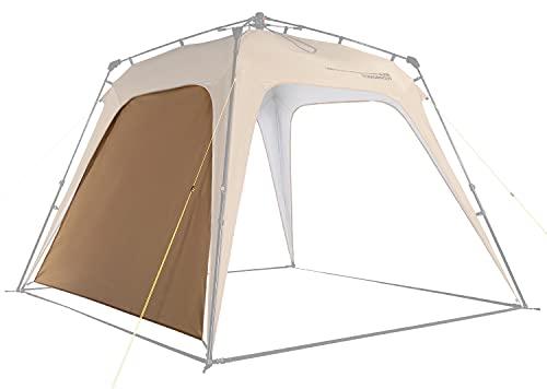 Lumaland Outdoor Seitenteil für Pop Up Pavillon Seitenwand für Gartenzelt Camping Partyzelt Zelt Kamel-Braun