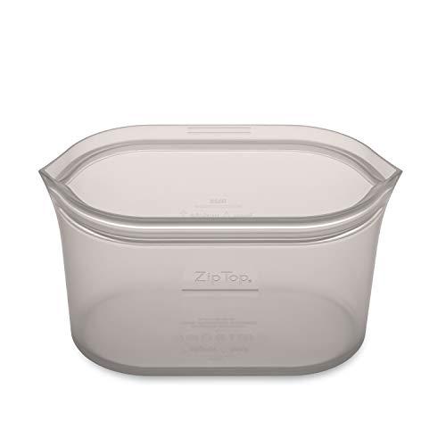 Zip Top シリコン製 保存容器 日本正規品 ディッシュ L 946ml レンジ 食洗器対応 グレー ジップ トップ