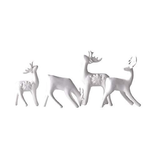YINHEW Keramische Ornamente, Keramik Weihnachtsschmuck Dekoration Weihnachten Elch Schöne Linien Vivid Form Familie Weihnachten Weihnachtsdekoration Schöne Figur nordischen Stil