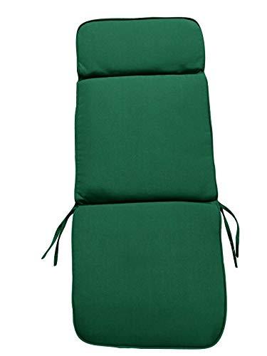 UK-Gardens Auflagen für Gartenmöbel, Kissen, grün, ca. 116 x 48 x 6 cm, 3 Abschnitte, Kopfstütze Sitz und Rückenlehne für große Garden Sessel