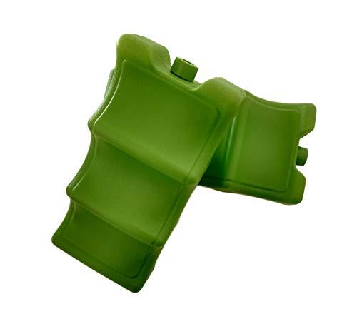 Teti`s Ducks Home - Set de 2 acumuladores de frío con 700 ml Cada uno. Ideal para Nevera portátil y Bolsa fría. Bloques de congelador de Hielo Finos y Ligeros para fiambreras, Camping, etc. (Verde)