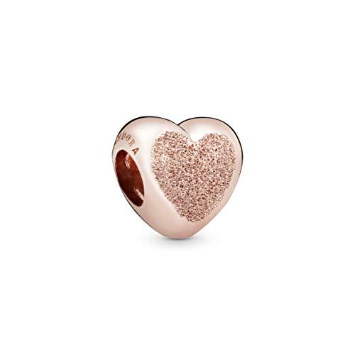 Pandora Jewelry Matte Brilliance Heart Pandora Rose Charm