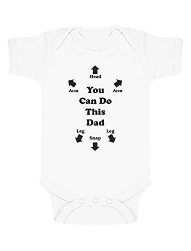Body de Manga Corta para bebé - Regalos Originales para Padres Primerizos - You Can do This Dad - 3-6 Mes Blanco