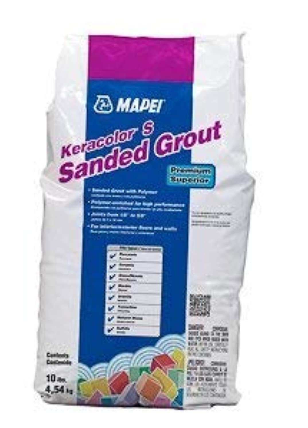 MAPEI Keracolor S Sanded Powder Grout - 10LB/Bag - Premium Superior (00 White)