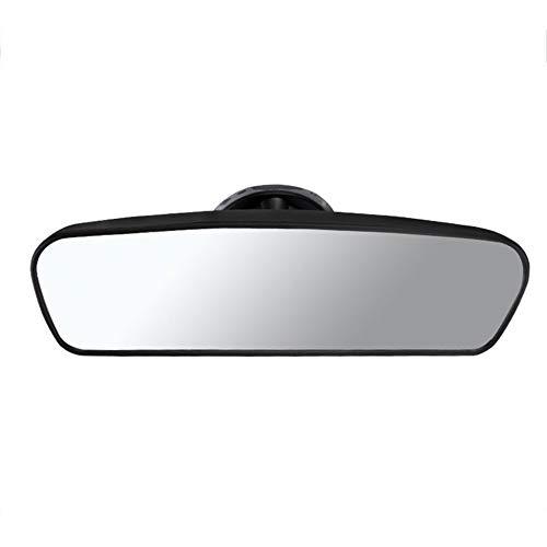 ZJF Retrovisor de la Vista Trasera del Interior del Coche Espejo Convexo Convexo con un Espejo Convexo con un chupador de PVC (Color : Black)