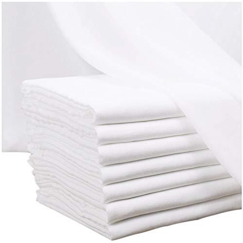 カット済み ダブルガーゼ 生地 2 二重ガーゼ 無地 ハギレ布 カットクロス コットン 綿 ホワイト 白 幅150cm 長さ 100cm