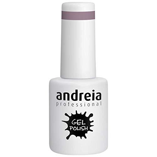 Andreia Semi-Permanent Nagellack Gel Poliermittel Farbe 258 Lila - Shades of Glitter Nudes und Soft Shades of Grey - 10.5 ml