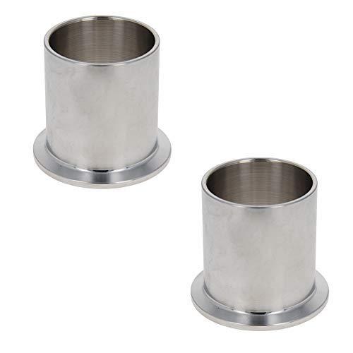 Férula de tubo de vacío Acero inoxidable 304 Brida de 55 mm Diámetro Soldadura de tubo de vacío en férula 2PCS 50mm Longitud