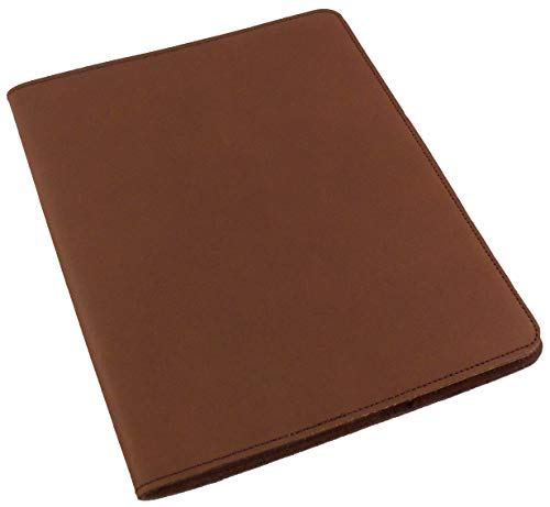 Refillable Leather Composition Notebook by Rustic Ridge - Leather Notebook Cover - Composition Book Cover (Dark Brown)