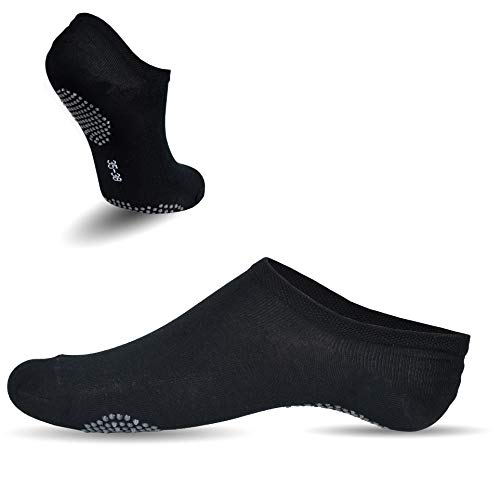 Frostfighter Bambus Sneaker Socken (6x Paar) Herren+Damen Yoga Pilates ABS Sohle (39-42)